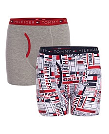 Big Boys Flag Flip Print Boxer Brief, Pack of 2