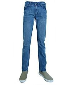 Men's Fashion Slim Tapered Jeans Denim