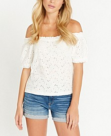 Gracie Eyelet Top