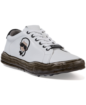 Karl Lagerfeld Men's Head Dipped Sole Low-Top Sneakers Men's Shoes