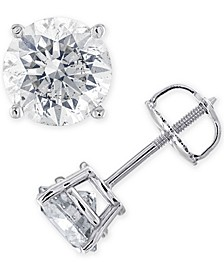IGI Certified Diamond (1-3/8 ct. t.w.) Stud Earrings in 14K White, Yellow or Rose Gold