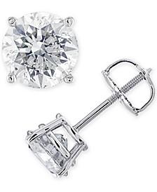IGI Certified Diamond (1-3/8 ct. t.w.) Stud Earrings in 14K White, Yellow or Rose Gold