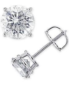 IGI Certified Diamond (1-3/8 ct. t.w.) Stud Earrings in 14K Gold