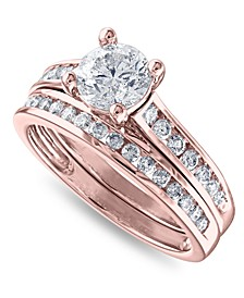 IGI Certified Diamond (1-1/2 ct. t.w.) Channel-Set Bridal Set in 14K White, Yellow or Rose Gold