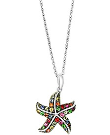 """EFFY® Multi-Gemstone Starfish 18"""" Pendant Necklace (5/8 ct. t.w.) in Sterling Silver"""