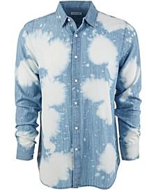 Men's Bleach Splatter Denim Shirt, Created for Macy's