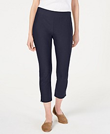 Slim Washable Crepe Cropped Pants, Regular and Petite