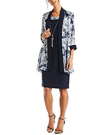 Sheath Dress & Floral Jacket