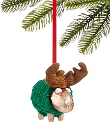 Christmas Cheer Green Sweater Moose Ornament, Created for Macy's