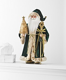 "Evergreen Dreams 18"" Velvet-Clad Santa, Created for Macy's"
