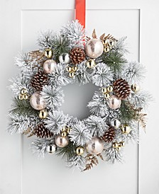 Shimmer and Light Artificial Pine Needle Wreath, Created for Macy's