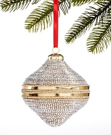 Shine Bright Plastic Gold Bead Ornament, Created for Macy's