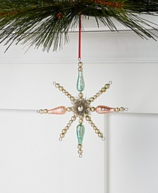Shimmer & Light Tinsel Star Burst Ornament, Created for Macy's