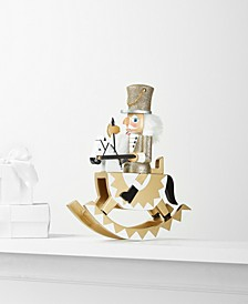 Silver & Gold Rocking Horse Nutcracker, Created for Macy's