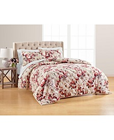 Gilded Floral Velvet Quilted Standard Sham, Created for Macy's
