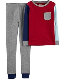 Toddler Boys 2-Piece Colorblock Snug Fit Cotton PJs