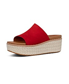 Women's Eloise Espadrille Suede Wedge Slides Sandal
