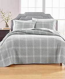 Heather Plaid Flannel Full/Queen Quilt, Created for Macy's
