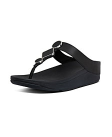 FitFlop Women's Leia Leather Toe-Thongs Sandal