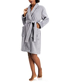 Short Chevron Cozy Robe, Created for Macy's