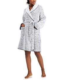 Faux-Sherpa Cozy Wrap Robe, Created for Macy's