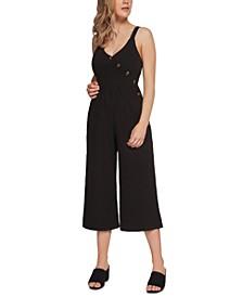 Faux-Wrap Culotte Jumpsuit