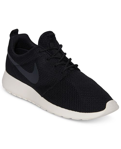 new style 5c505 49177 ... Nike Men s Roshe Run Casual Sneakers from Finish ...