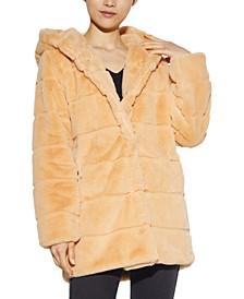 Jill Hooded Faux-Fur Coat, Created for Macy's