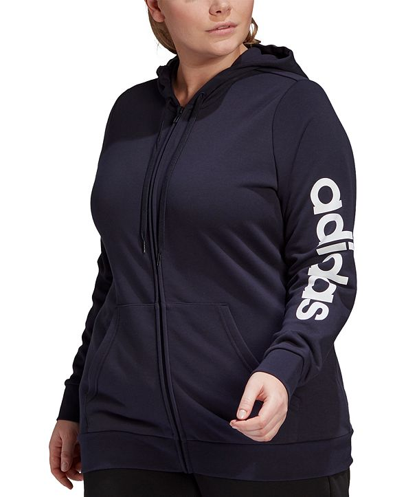 adidas Plus Size Essential Full-Zip Hooded Jacket