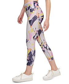 Calvin Klein Performance Printed High-Waist Cropped Leggings