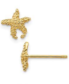 Star Fish Stud Earrings in 14k Gold