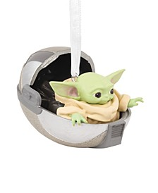 Star Wars: The Mandalorian The Child in Hovering Pram Christmas Ornament