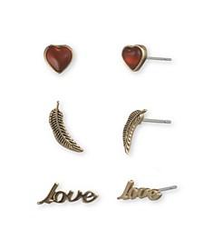 Heart Earring Trio Set