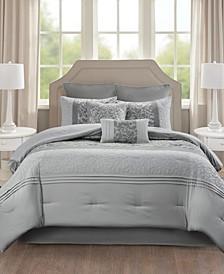 510 Design Ramsey California King Embroidered 8 Piece Comforter Set