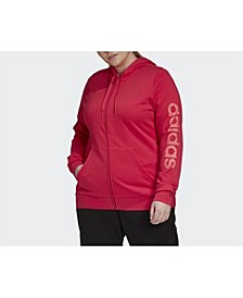 Women's Essentials Hooded Track Top Plus Size