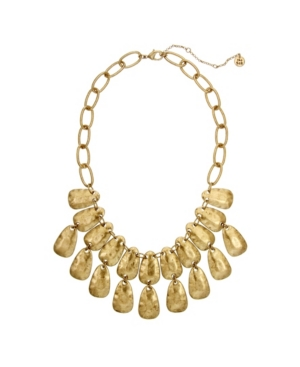 Love making a statement. This hammered casted statement necklace from The Sak will fill any statement craving.