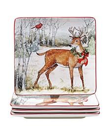 Winter Forest 4 Piece Dinner Plate