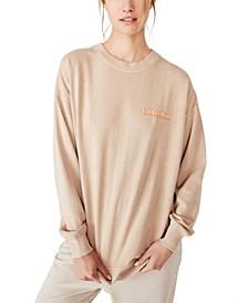 Lulu Graphic Oversized Crew Sweatshirt