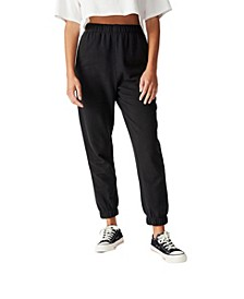 High Waisted Slim Fit Trackpant