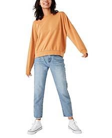 Harper Boxy Oversized Crew Sweater