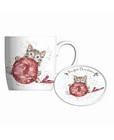 Mug and Coaster Set - Purrfect Christmas