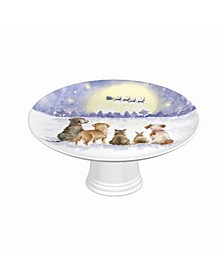 Footed Cake Plate - The Magic of Christmas
