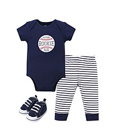 Boys Bodysuit, Pant and Shoe Set
