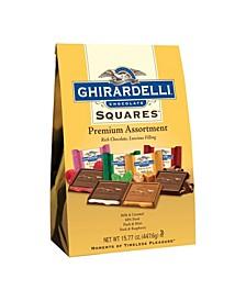 Premium Assortment Chocolate Squares, 15.77 oz