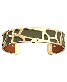 Reversible Leather Giraffe Print or Solid Cuff Bracelet