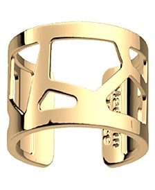 Gold-Tone Large Exotic Spots Girafe Ring, 12mm, 0.3in