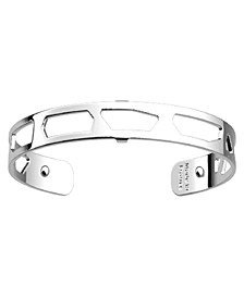 Silver-Tone Exotic Spots Extra-Thin Cuff Girafe Bracelet, 8mm, 0.3in