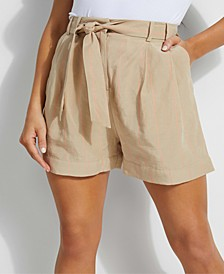 Hilena Striped Belted Shorts