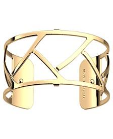 Wavy Openwork Wide Adjustable Cuff Tresse Bracelet, 25mm, 1in