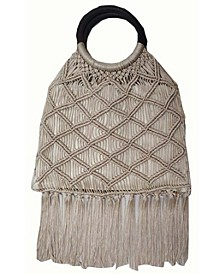 INC Miyya Fringe Woven Bangle Bag, Created for Macy's